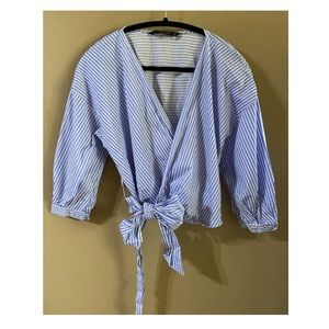 Zara Wrap Cropped Blouse